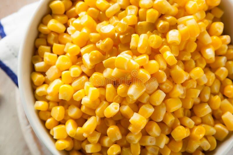 Amarelo orgânico milho cozinhado fotografia de stock