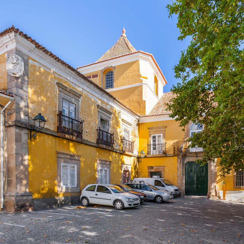 Amarelo Palace in Portalegre city. Portugal royalty free stock images