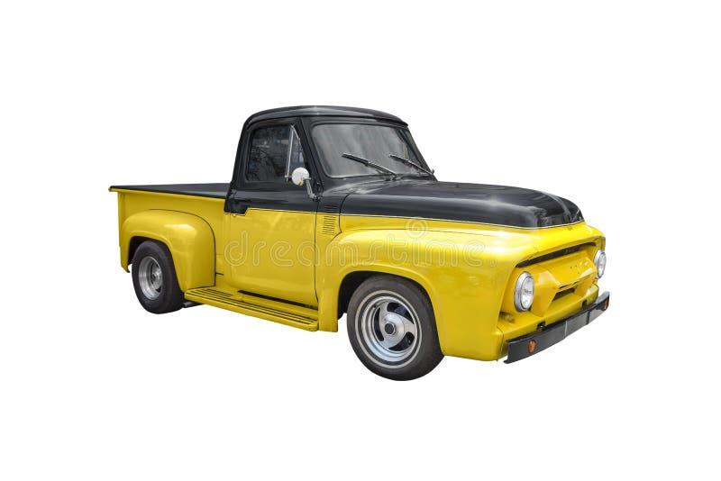 Amarelo & preto pegare o caminhão imagens de stock royalty free