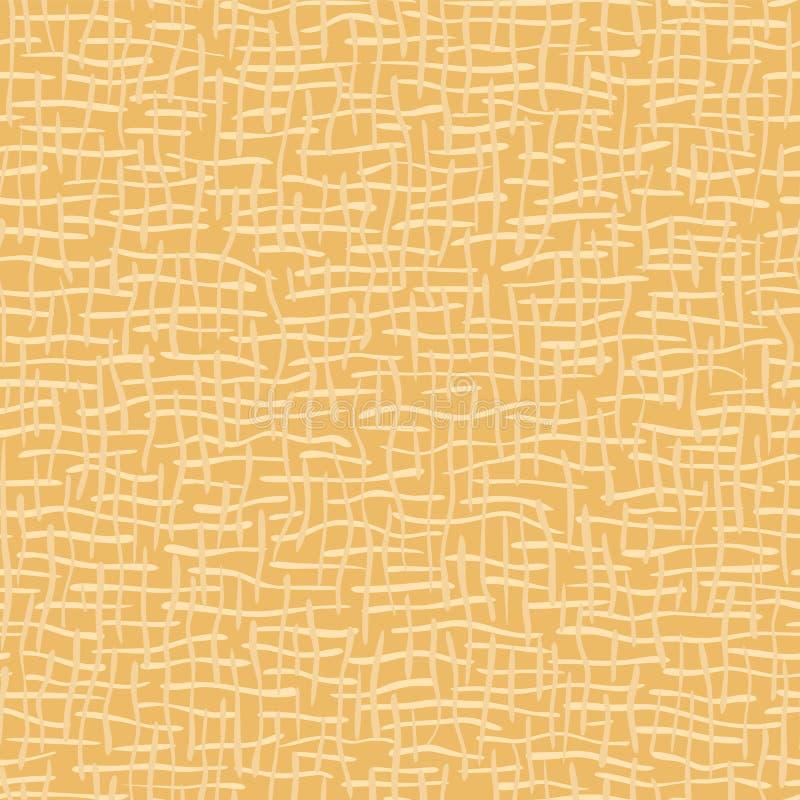 Amarelo sem emenda tecido do teste padrão do vetor da textura de serapilheira ilustração stock