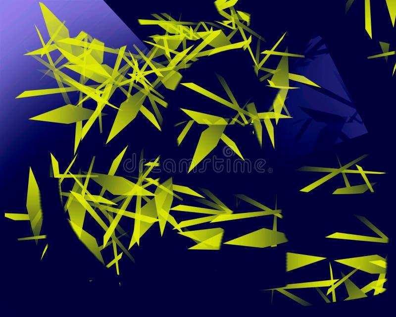 Amarelo verde dos tri?ngulos de Abstrack foto de stock royalty free