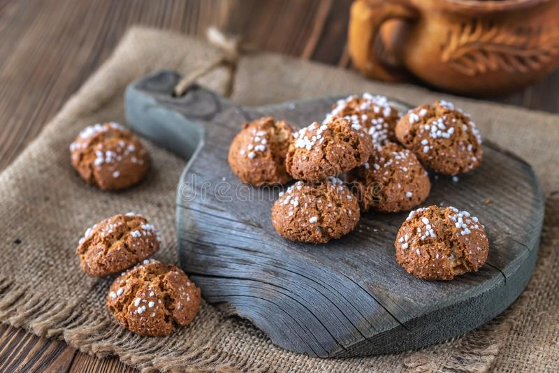 Amaretti del Chiostro - biscuits italiens d'amaretto photos stock