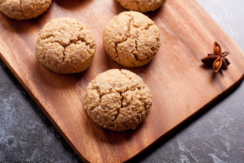 Amaretti italiano de la galleta de almendra foto de archivo libre de regalías