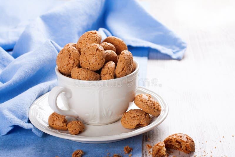 Amaretti italien de biscuit d'amande image libre de droits