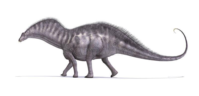 Amargusaurus dinosaur ilustracja wektor