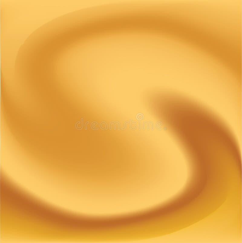 Amarillee el viento en torcedura. stock de ilustración
