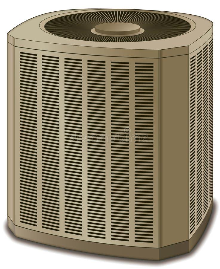 Amarillento de condicionamiento de la unidad del acondicionador de aire ilustración del vector