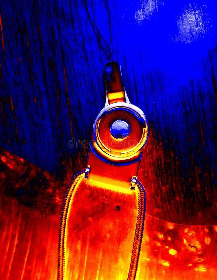 amarillo azul del extracto del diseño de la cuerda imagen de archivo