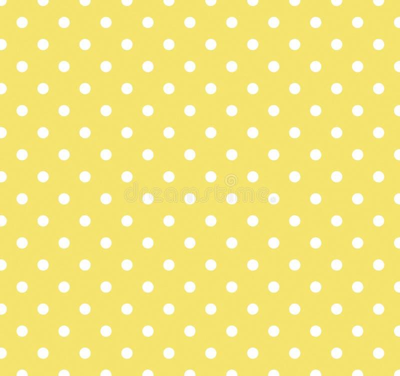 Amarillo con los puntos de polca blancos libre illustration