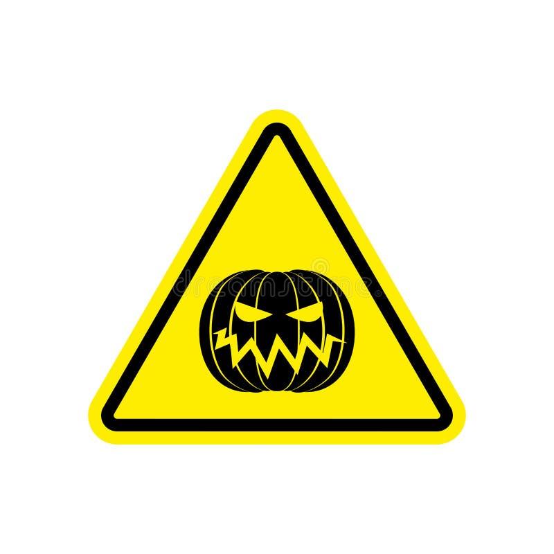 Amarillo de la señal de peligro de Halloween Symbo de la atención del peligro de la mascarada ilustración del vector