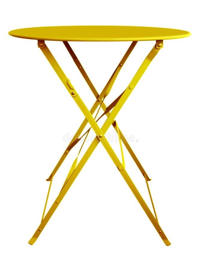 Amarillo de la tabla de plegamiento foto de archivo libre de regalías