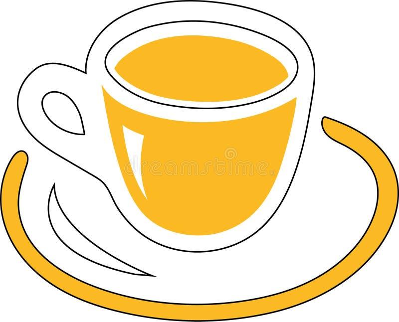 Amarillo de la taza imagen de archivo libre de regalías