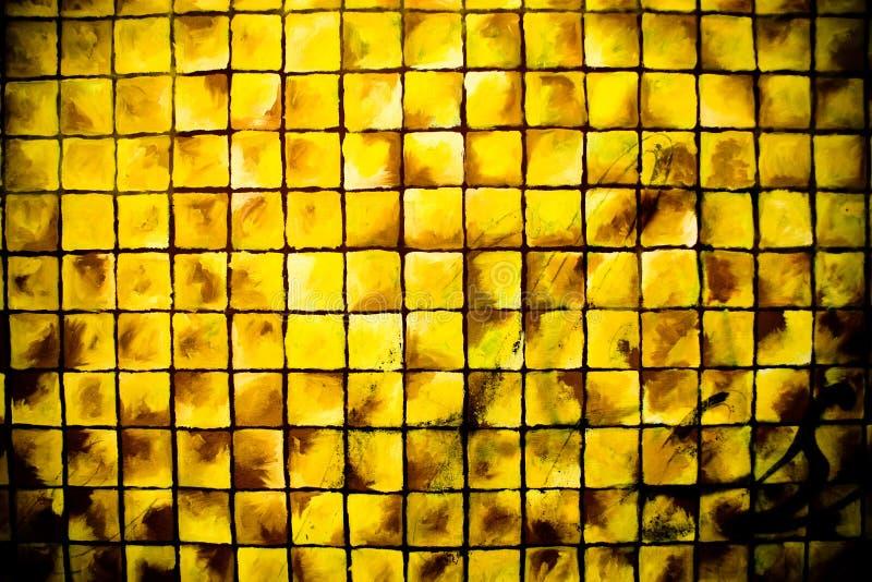 Amarillo De Los Cuadrados Foto de archivo libre de regalías