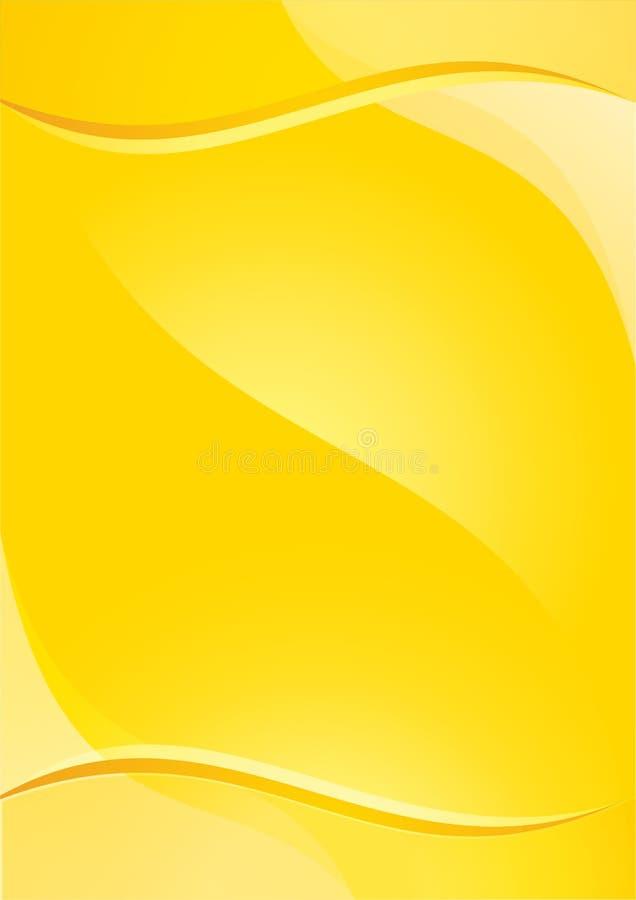 Amarillo del fondo ilustración del vector