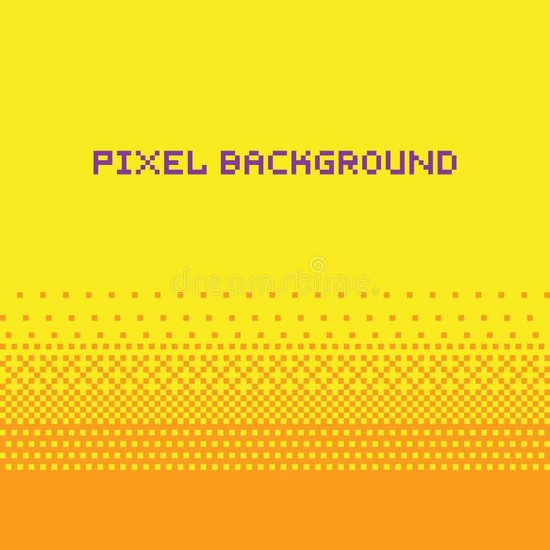 Amarillo del fondo de la pendiente del vector del estilo del arte del pixel libre illustration