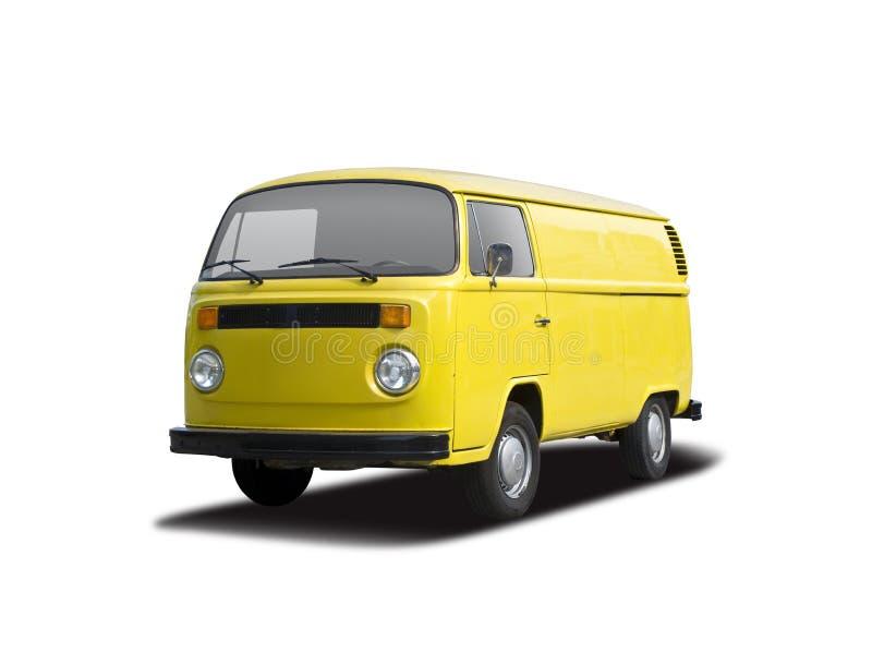 Amarillo del T2 de VW imagenes de archivo