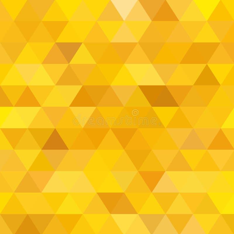 Amarillo, disposici?n poligonal del extracto del vector del oro Ejemplo creativo con pendiente Una nueva textura para su dise?o E ilustración del vector