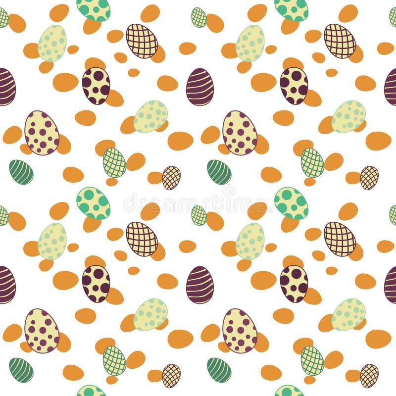 Amarillo inconsútil del modelo de los huevos de Pascua fotografía de archivo