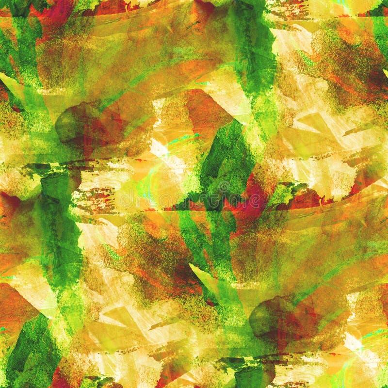 Amarillo inconsútil texturizado del ornamento de la imagen de la paleta, stock de ilustración
