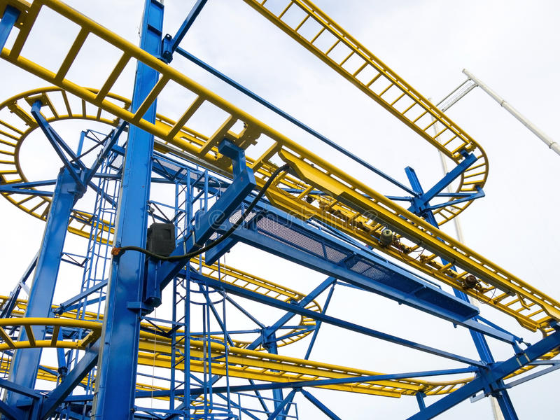 Amarillo y azul fotografía de archivo libre de regalías