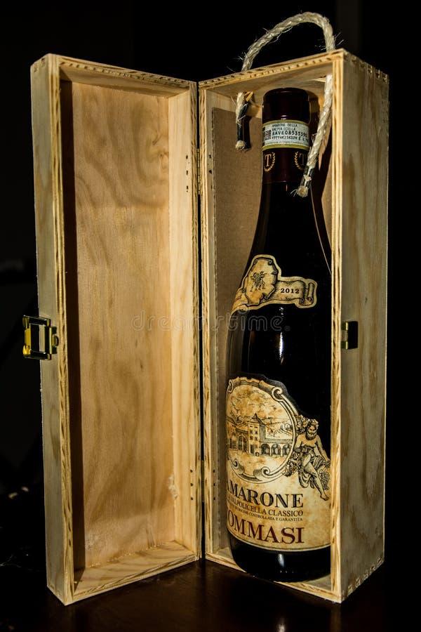 Amarone-Wein stockbild