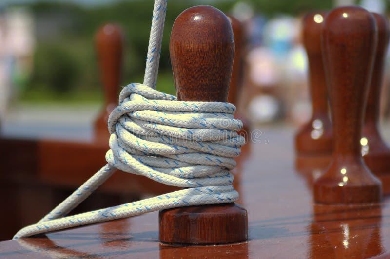 Amarração da corda fotografia de stock