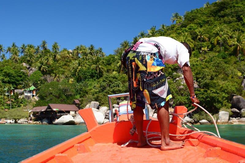 Amarração na praia da liberdade Koh Tao Arquipélago de Chumphon tailândia imagem de stock