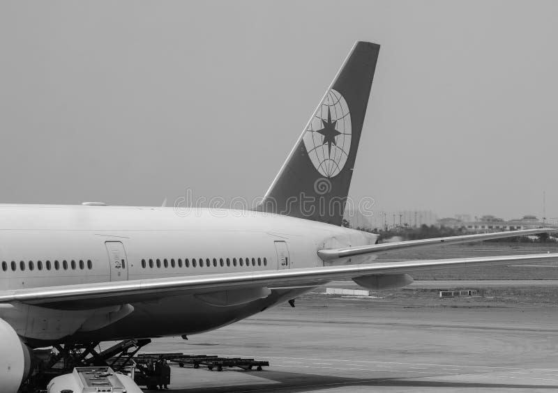 Amarrage d'avion à l'aéroport de Tan Son Nhat, Saigon, Vietnam photo libre de droits