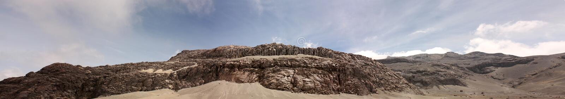 Amarre. Neve do parque nacional. Andes, Colômbia imagem de stock