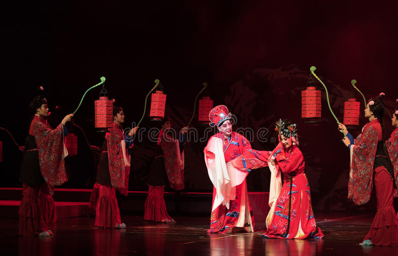 """amarre o nó-registro nupcial de sonhos do sul do opera""""four de Ramo-jiangxi do  do linchuan†fotos de stock royalty free"""
