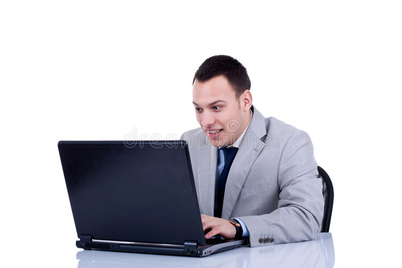 Download Amased Business Man At His Laptop Stock Image - Image: 18360625
