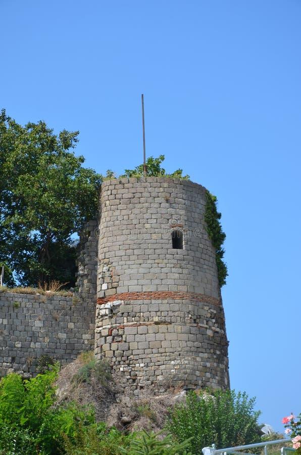 Amasra Genua slott royaltyfria bilder