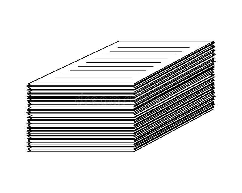 Amassez, pile de l'icône de papier d de symbole de vecteur d'icône de Web de fichier document illustration stock
