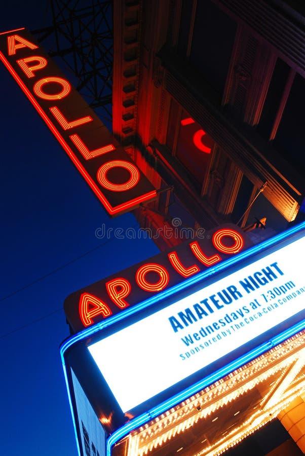 Amatörmässig natt Apollo Theatre, Harlem, New York royaltyfri bild