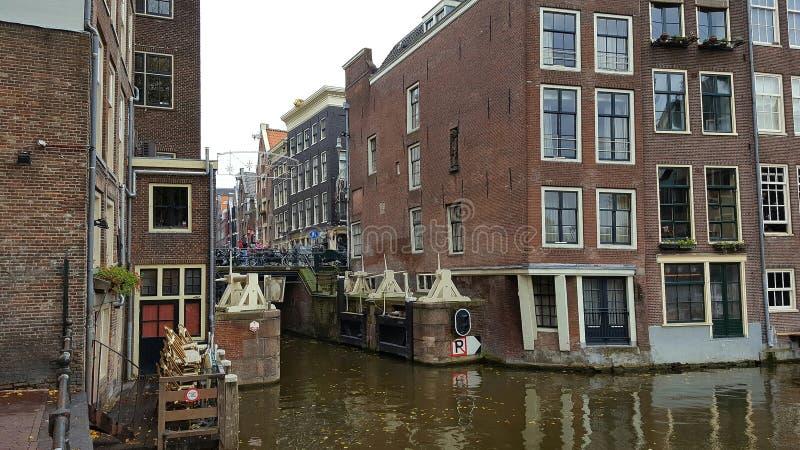 Amaterdam kanal royaltyfri fotografi