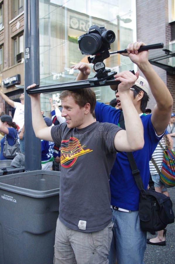 Amateur camera crew stock photography