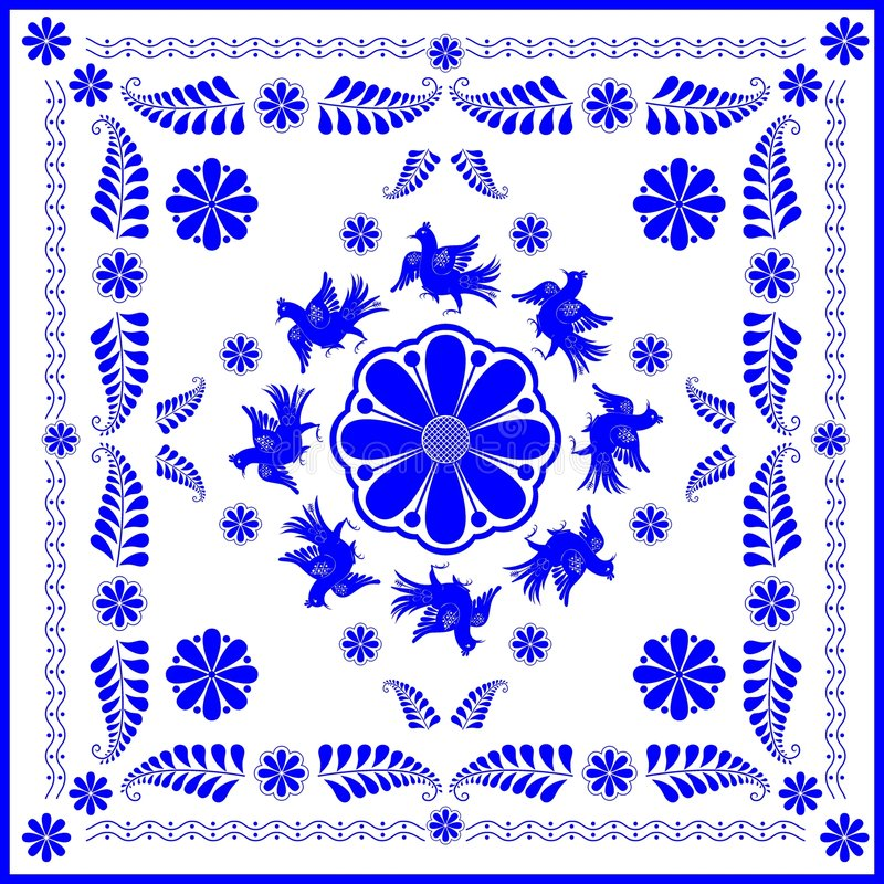 Download Amateur And Folk Arts (gzhel) Stock Vector - Image: 3557217