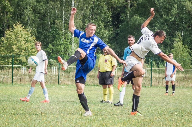 Amateur football championship in Kaluga region of Russia. Kaluga region hosts an annual regional championship with Amateur football competitions. Teams from royalty free stock photos