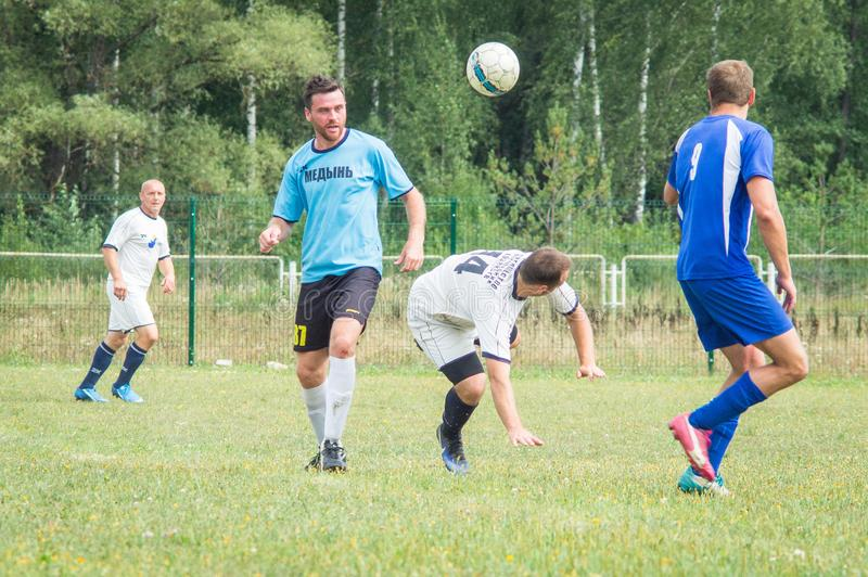 Amateur football championship in Kaluga region of Russia. Kaluga region hosts an annual regional championship with Amateur football competitions. Teams from stock image