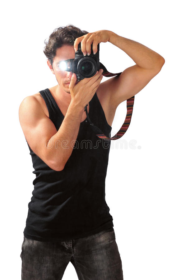 Amateur Fotograaf royalty-vrije stock fotografie
