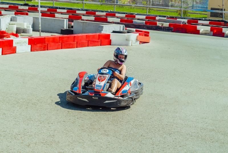 Amateur-kart Laufen stockfotos