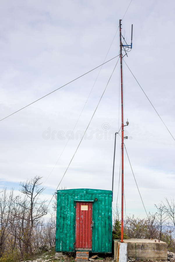Amateur radio antenna. Tune into my frequency, amateur radio antenna for vhf contest royalty free stock photos