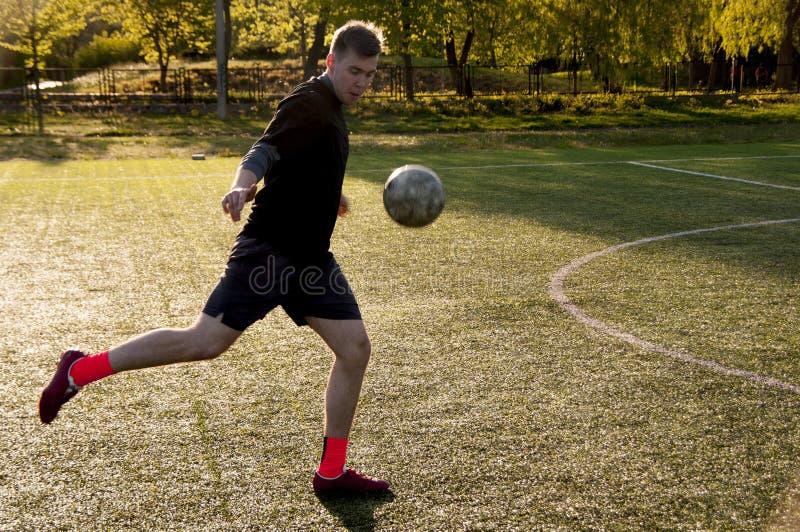 Amateur Voetbalster stock afbeelding