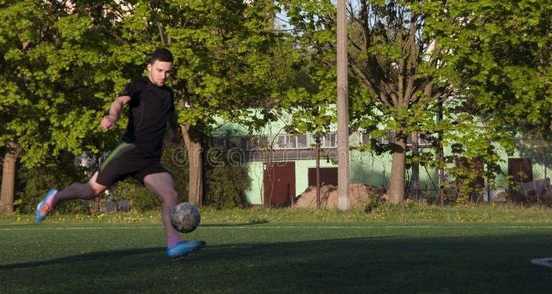 Amateur Voetbalster royalty-vrije stock foto's