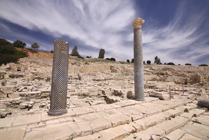 Amathus废墟,利马索尔,塞浦路斯 免版税图库摄影