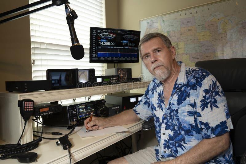 Amatorski Radiowy operator fotografia stock