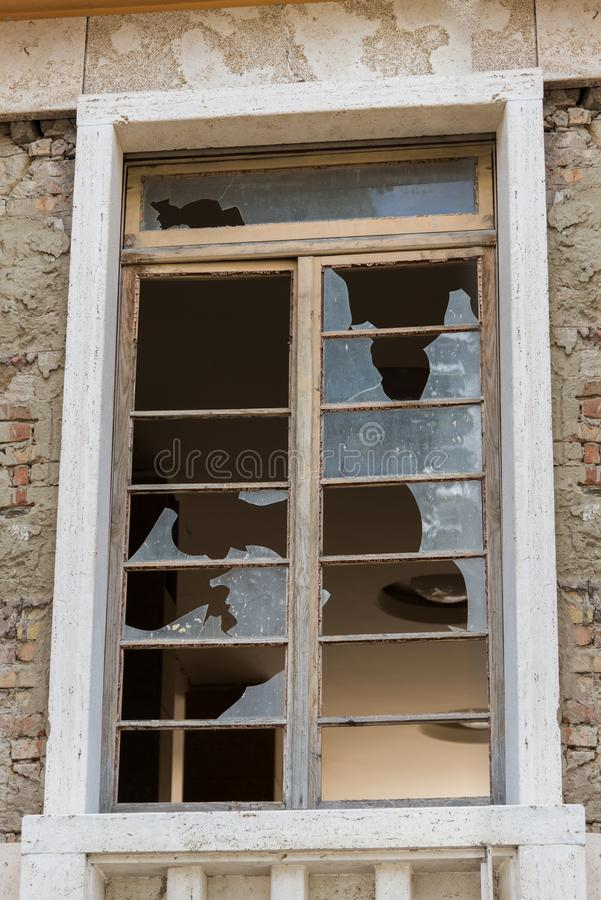 Amatrice - Италия, щебень должный к землетрясению на 2016 стоковые изображения