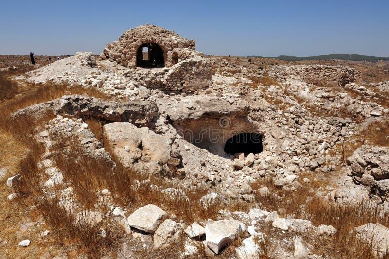 Amatzia grottor - Israel  royaltyfria bilder