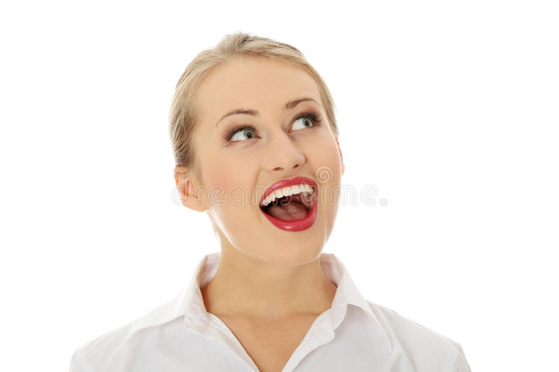 Download Amazed stock image. Image of blonde, emotional, excited - 16422303