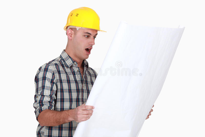 Download An amazed architect. stock photo. Image of protective - 31989836